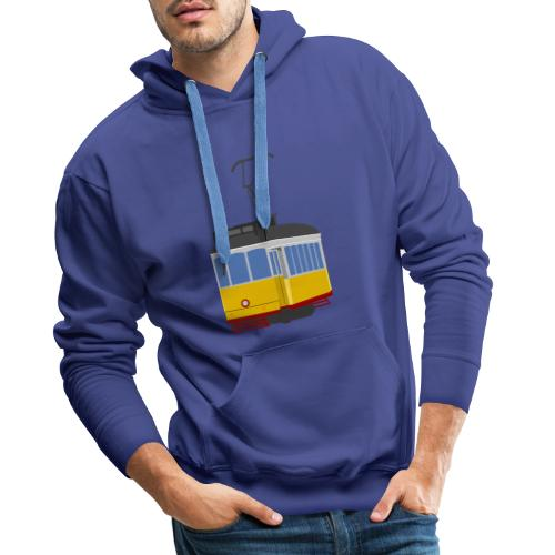 Tram car yellow - Men's Premium Hoodie
