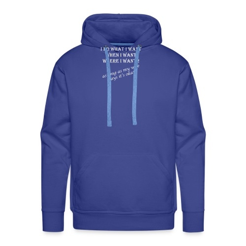 wife1 white text - Men's Premium Hoodie