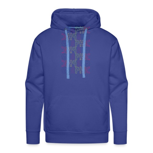 graficzny - Bluza męska Premium z kapturem