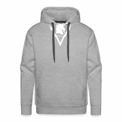 Brand RLL White - Felpa con cappuccio premium da uomo