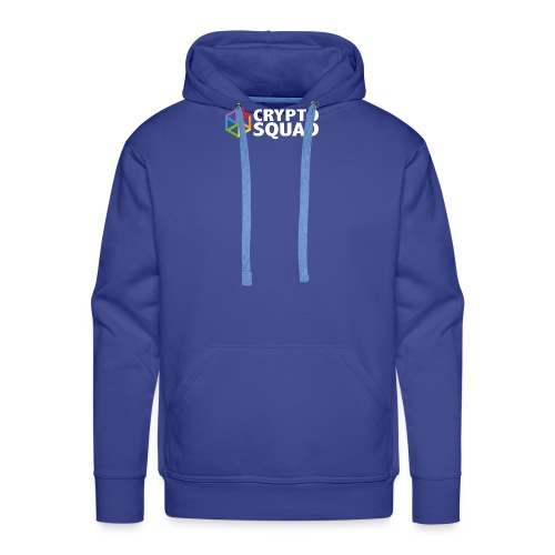 Crypto Squad Large Logo (white) - Men's Premium Hoodie
