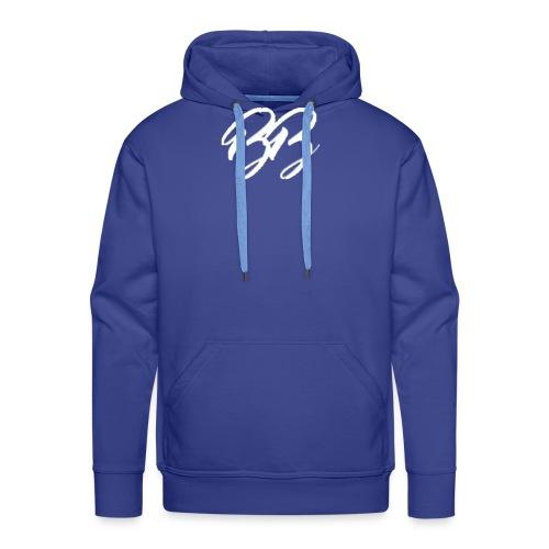 Collection Logo BB Blanc - Sweat-shirt à capuche Premium pour hommes