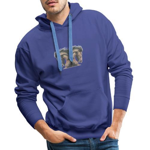 Cheval cabré étalon - Sweat-shirt à capuche Premium pour hommes