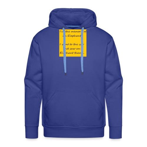 Memory Elephant - Men's Premium Hoodie