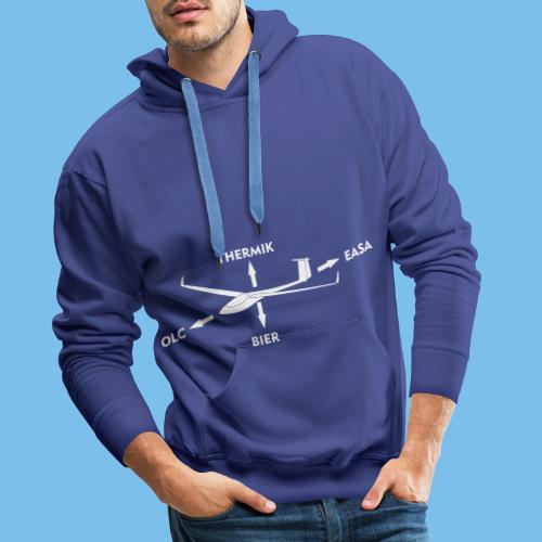 lustiger Segelflieger Spruch Pilot Geschenkidee - Männer Premium Hoodie