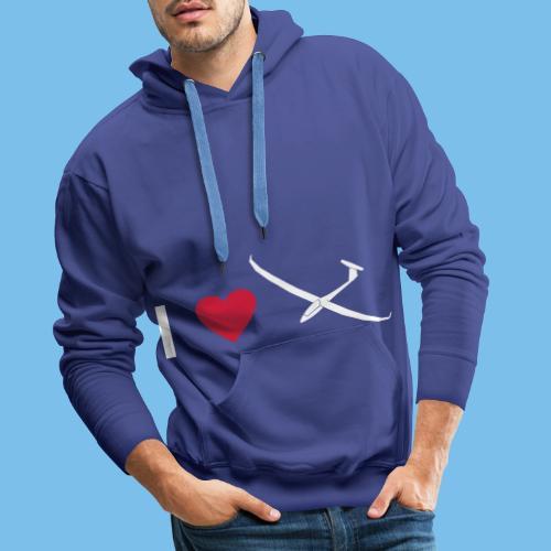 Ich liebe gleiten Segelflieger Segelflugzeug - Männer Premium Hoodie