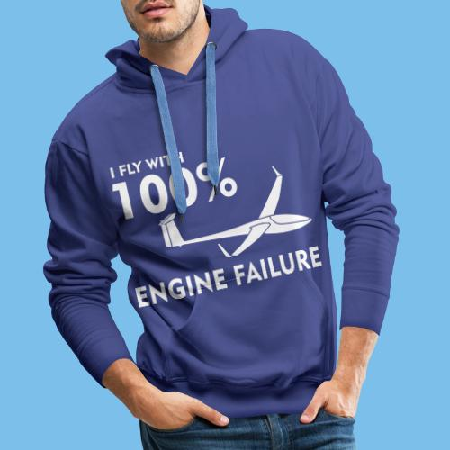 Motor Segelflugzeug lustig gleiten Segelflieger - Männer Premium Hoodie
