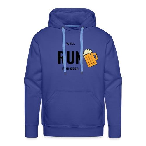 Will run for beer - Mannen Premium hoodie