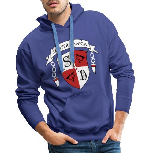 SD logo - hvide lænker - Herre Premium hættetrøje