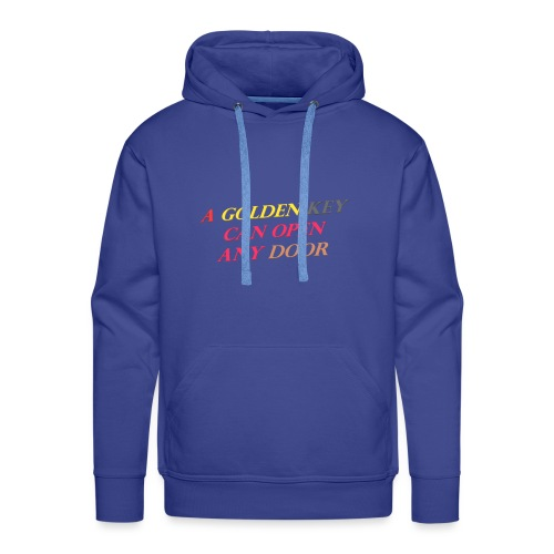 Say in English with 3D effect - Men's Premium Hoodie
