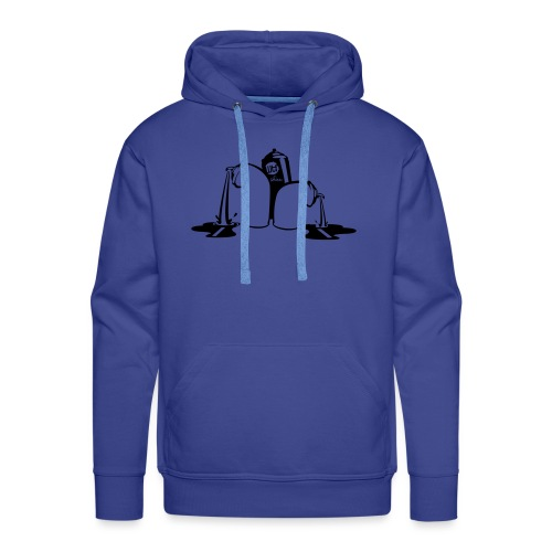 puking spray cans - Mannen Premium hoodie