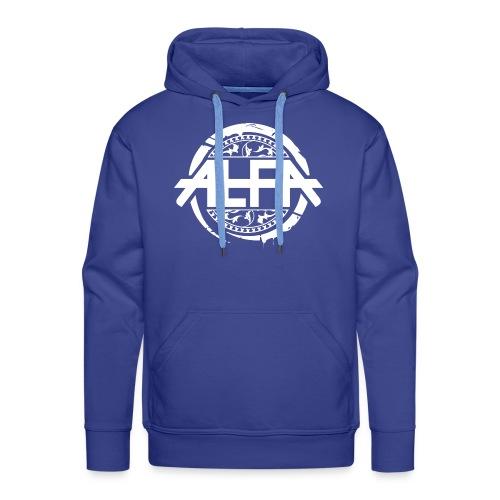 Alfa Logo weiss - Männer Premium Hoodie