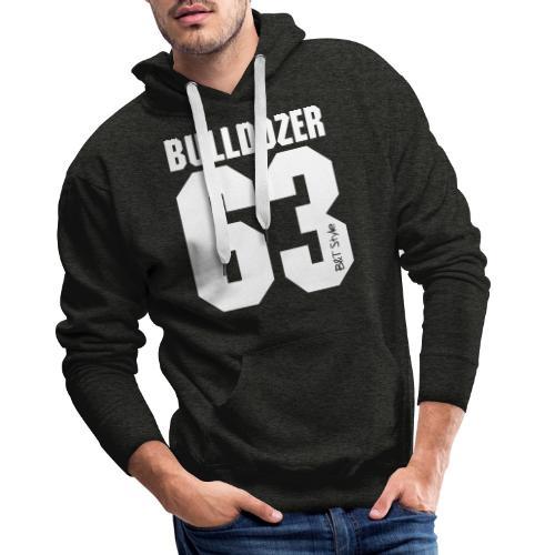 Bulldozer 63 - Felpa con cappuccio premium da uomo