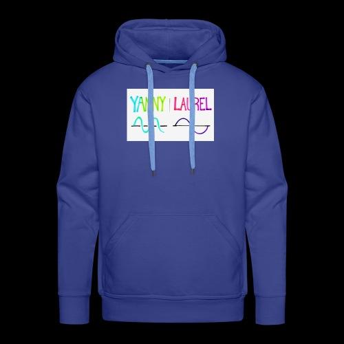 yanny laurel science - Men's Premium Hoodie