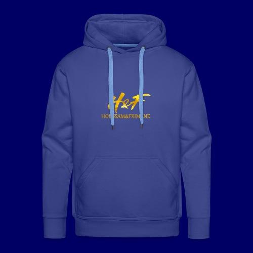 h f gold2 - Felpa con cappuccio premium da uomo
