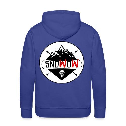 Logo snowow - Sudadera con capucha premium para hombre
