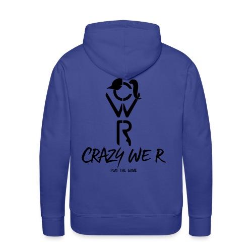 Crazy We R - Play The Game / Black - Sweat-shirt à capuche Premium pour hommes