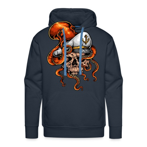skull Sailor Tattoo - Sweat-shirt à capuche Premium pour hommes