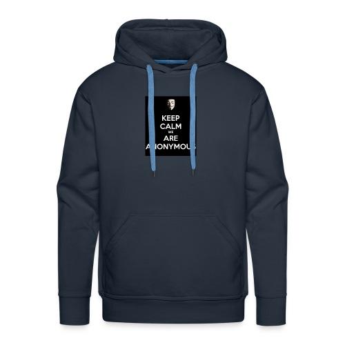 Keep Calm WE Are Anonymous - Premium hettegenser for menn
