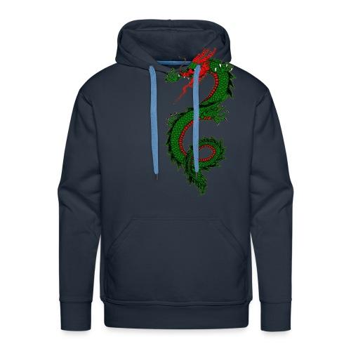 dragon - Felpa con cappuccio premium da uomo