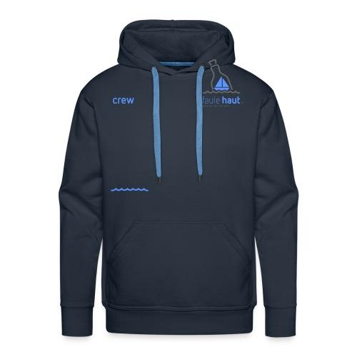 Crew logo Blue dark Grey - Männer Premium Hoodie