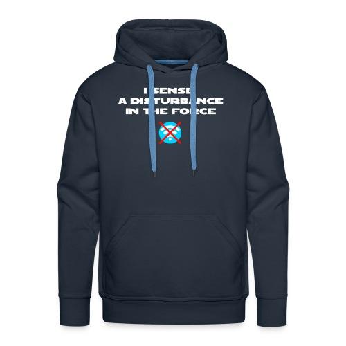 I Sense a Disturbance in the Force T-Shirt - Felpa con cappuccio premium da uomo
