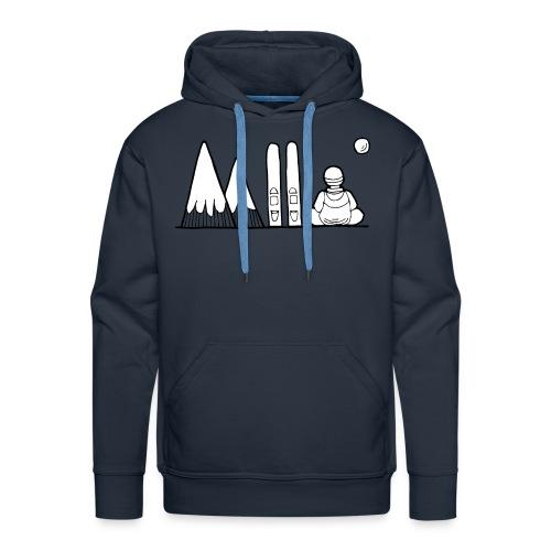 ski et montagnes - Sweat-shirt à capuche Premium pour hommes