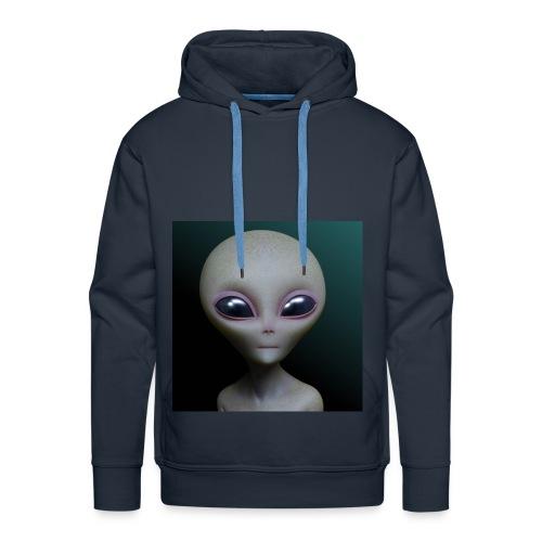 small grey alien - Men's Premium Hoodie