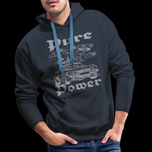 Pure Power V6 Grau - Männer Premium Hoodie