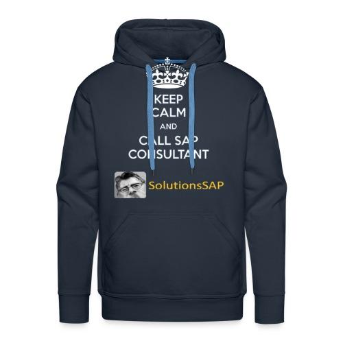Keep Calm Solutionssap - Sudadera con capucha premium para hombre