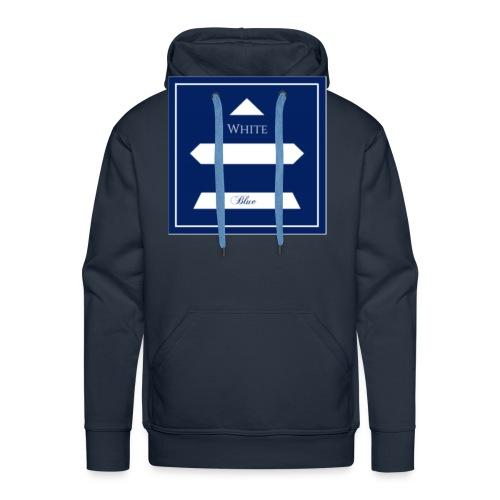 White Blue - Sweat-shirt à capuche Premium pour hommes