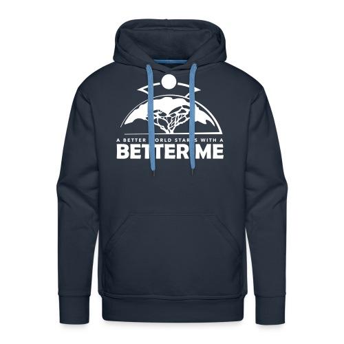 Better Me - White - Men's Premium Hoodie