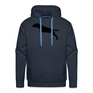 Jumping Dog Silhouette - Mannen Premium hoodie