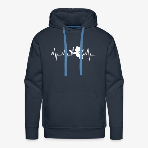 cupidon, battement de coeur - Sweat-shirt à capuche Premium pour hommes