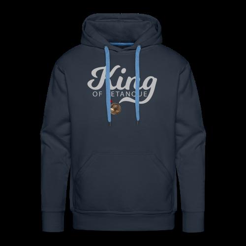 KING OF PETANQUE - Sweat-shirt à capuche Premium pour hommes