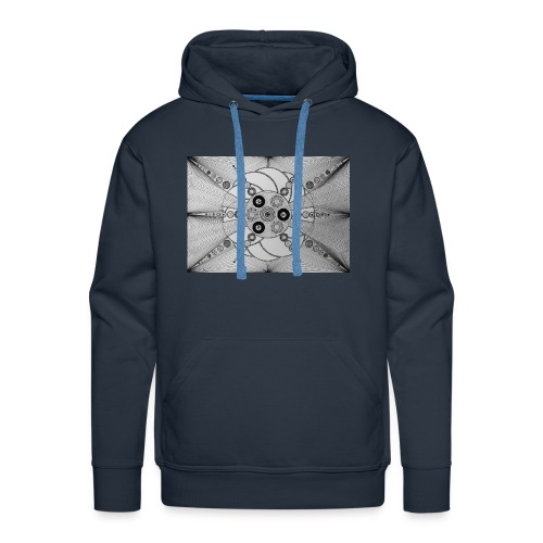 MandalArt Design star circles - Mannen Premium hoodie