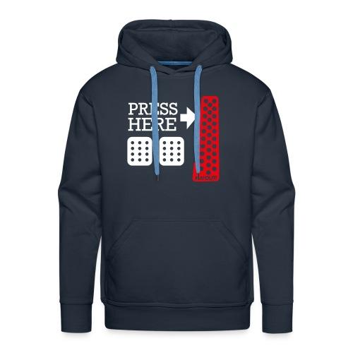 Press Here - Sweat-shirt à capuche Premium pour hommes