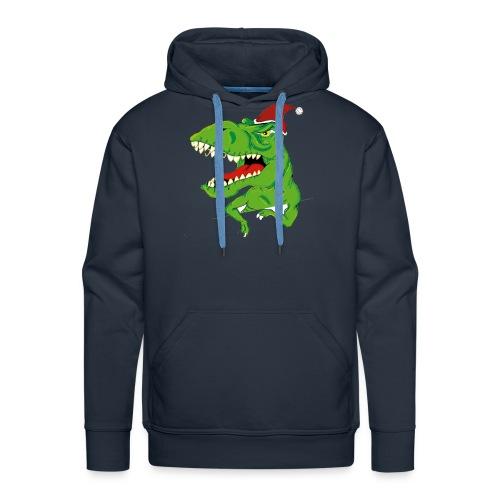 Navidad dinosaurio - Sudadera con capucha premium para hombre