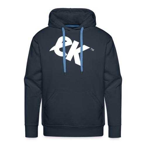 EK logo wit #1 - Mannen Premium hoodie