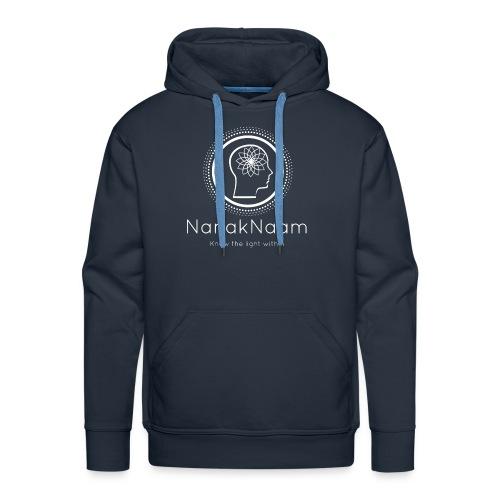 Nanak Naam Logo and Name - White - Men's Premium Hoodie