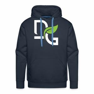 DrGreen Logo Symbol weiss grün - Männer Premium Hoodie