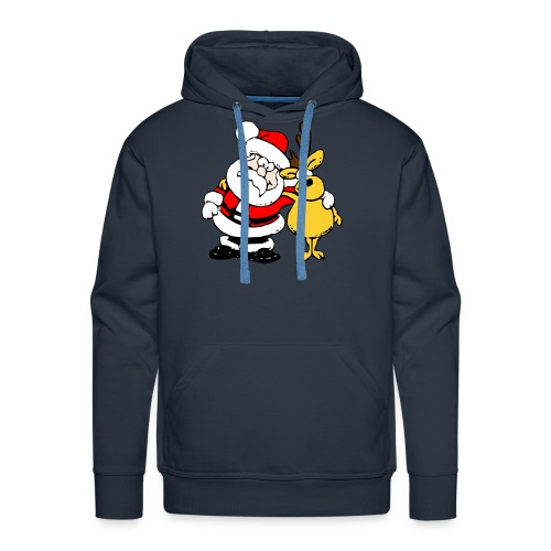 Santa and Reindeer - Men's Premium Hoodie