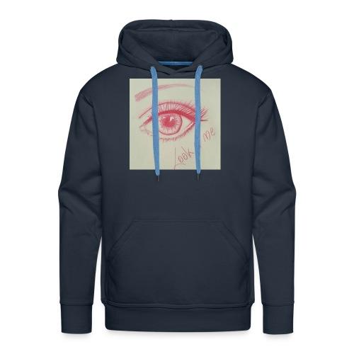 Regard Rouge - Sweat-shirt à capuche Premium pour hommes