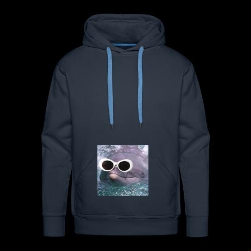 Dauphin à lunettes - Sweat-shirt à capuche Premium pour hommes