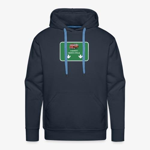 autoroute pour le pole nord - Sweat-shirt à capuche Premium pour hommes
