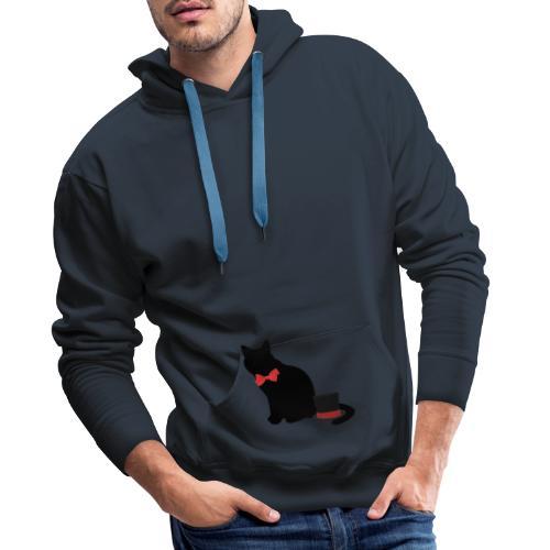 chat noir - Sweat-shirt à capuche Premium pour hommes