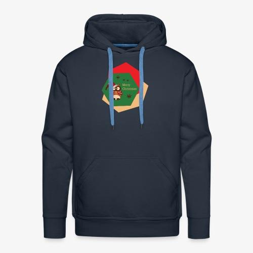Christmas Owl - Sweat-shirt à capuche Premium pour hommes