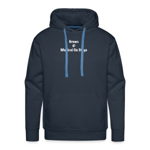 shirt achterkant grows - Mannen Premium hoodie
