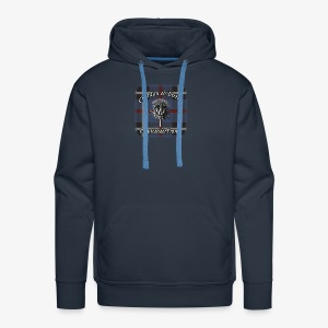 Chardon et Tartan vector logo high res - Sweat-shirt à capuche Premium pour hommes