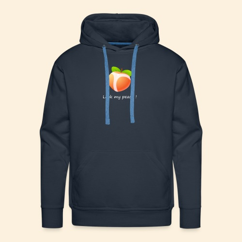 Look my peach in white - Men's Premium Hoodie